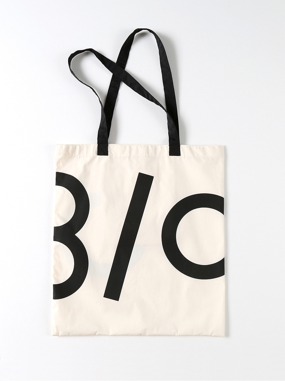 Half Logo Fabric Bag (Black)