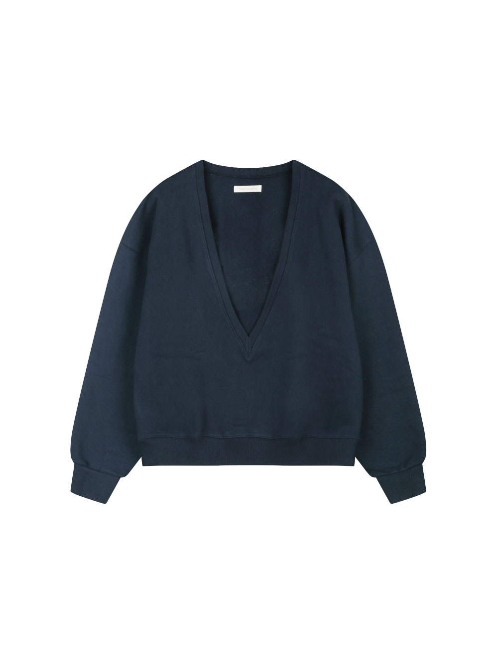 Deep V-neck Sweatshirts (Washed Navy)