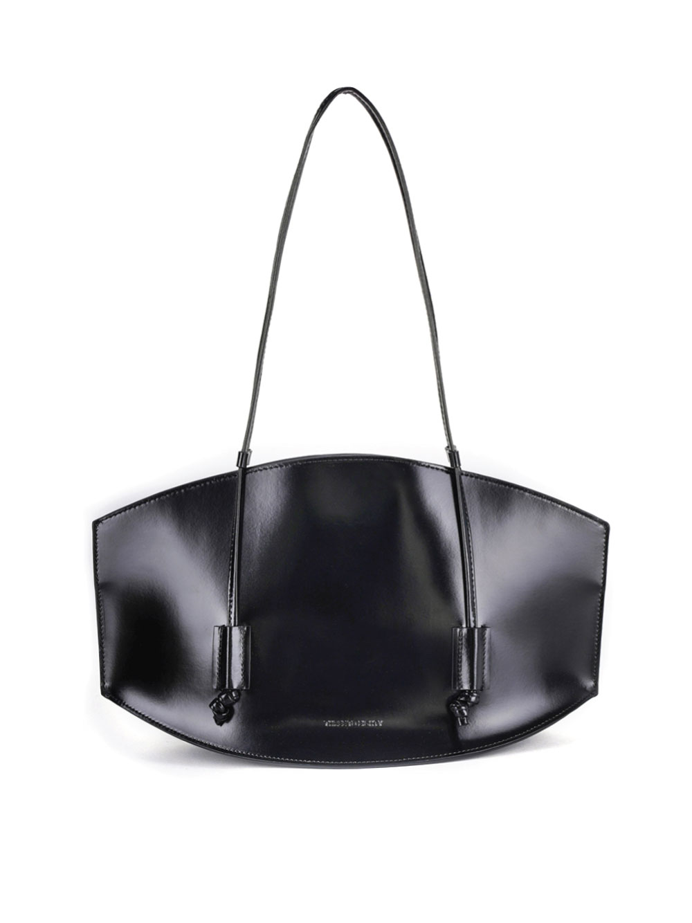 [Pre-order 10% off] Curved Bag Medium (Enamel Black)