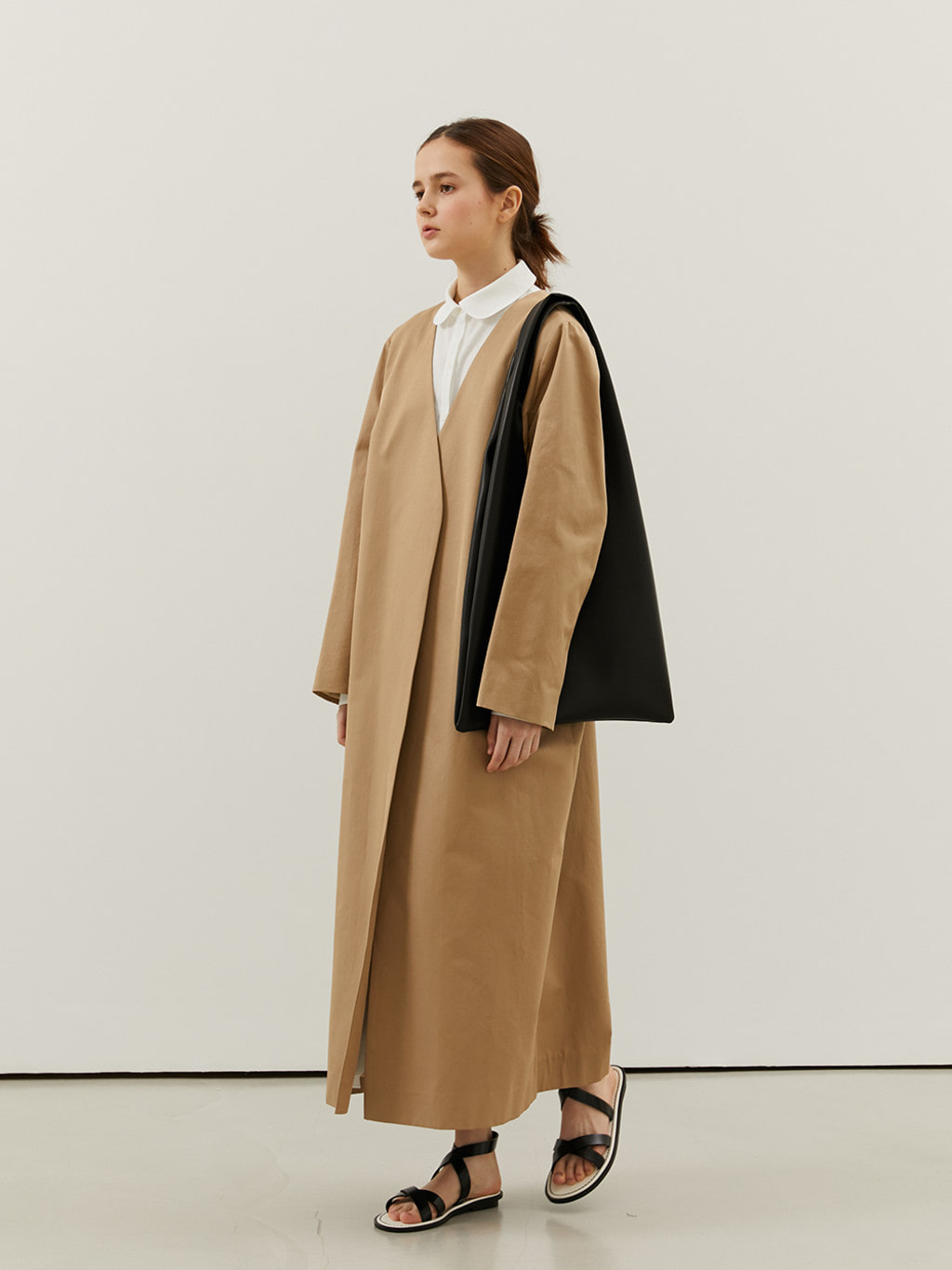 Minimal Trench Coat (Beige)