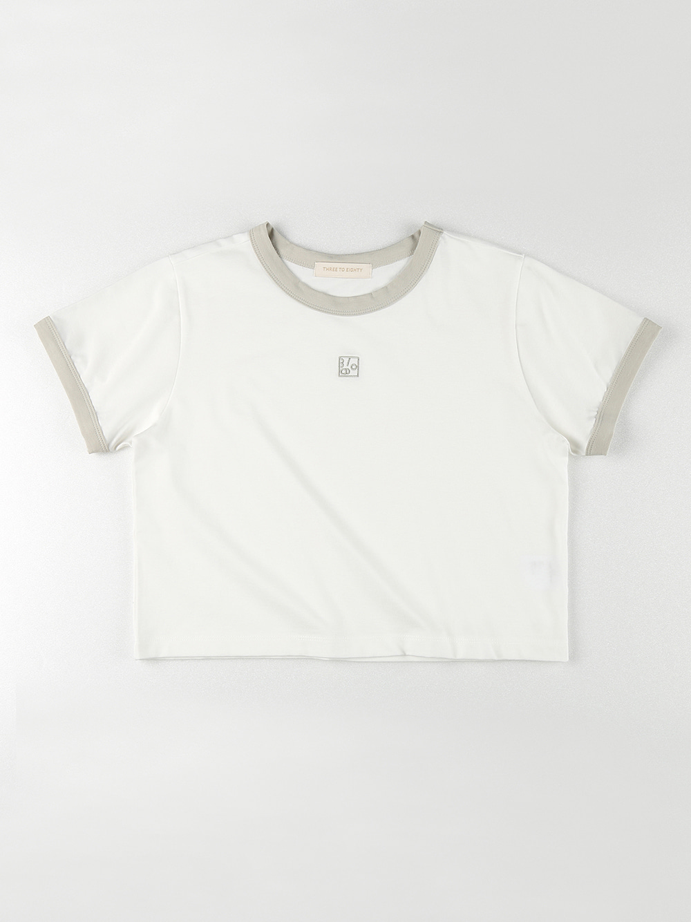 Ringer Crop T-shirt (Light Green)