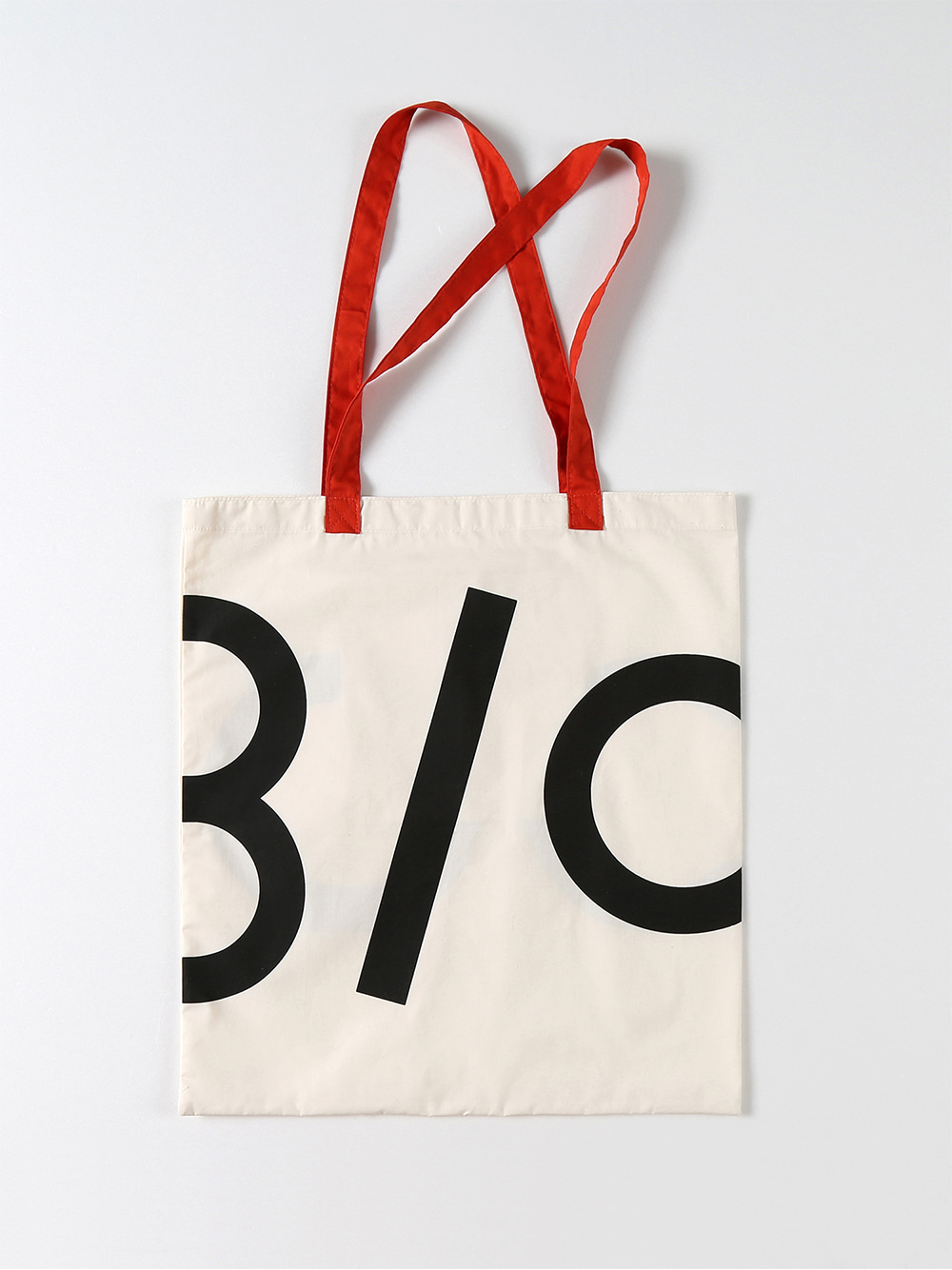 Half Logo Fabric Bag (Red)