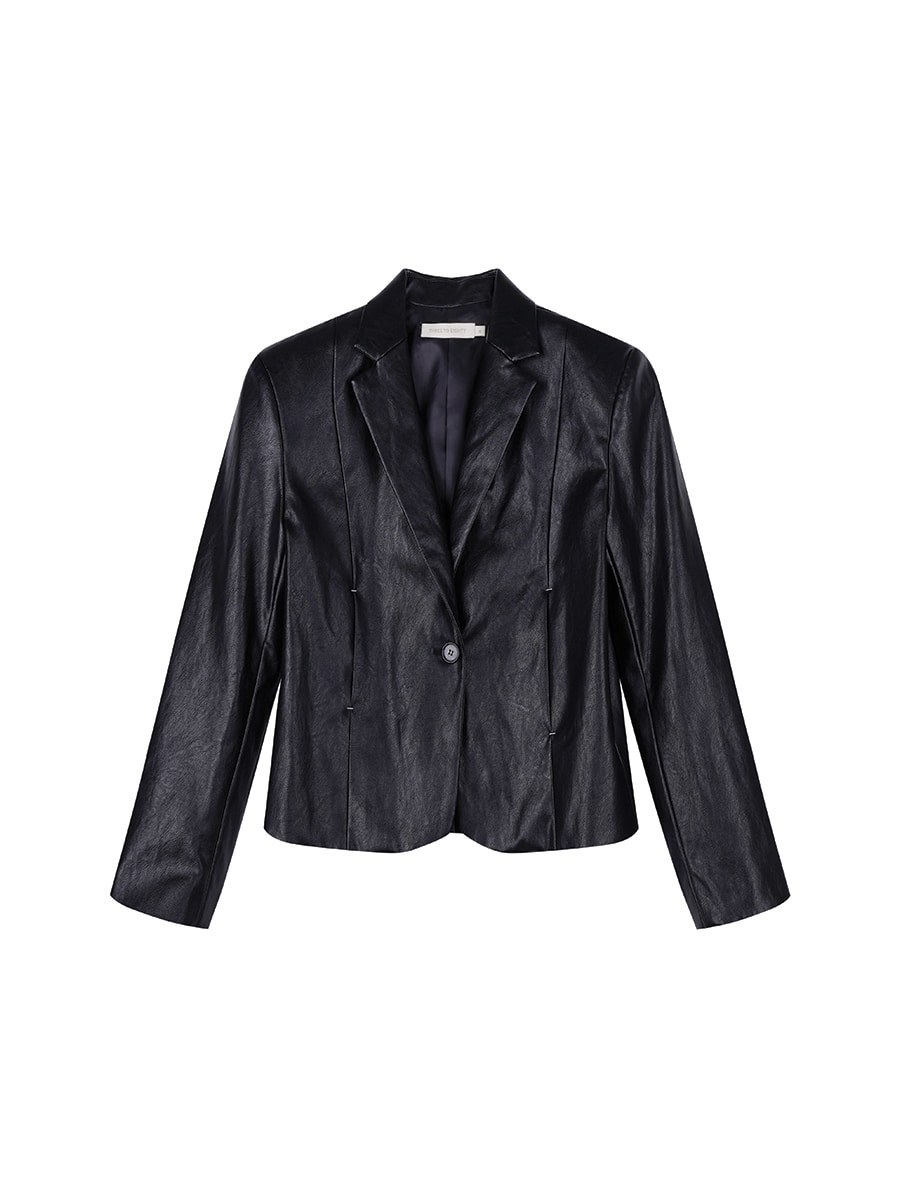 Crop Faux-Leather Jacket