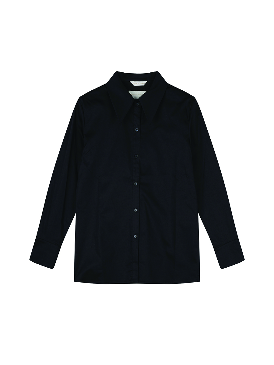 Pin-Tuck Shirts (Black)