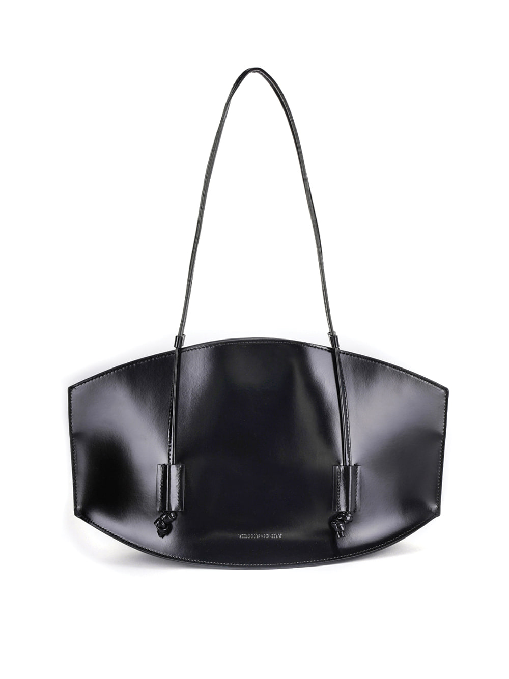 Curved Bag Medium (Enamel Black)
