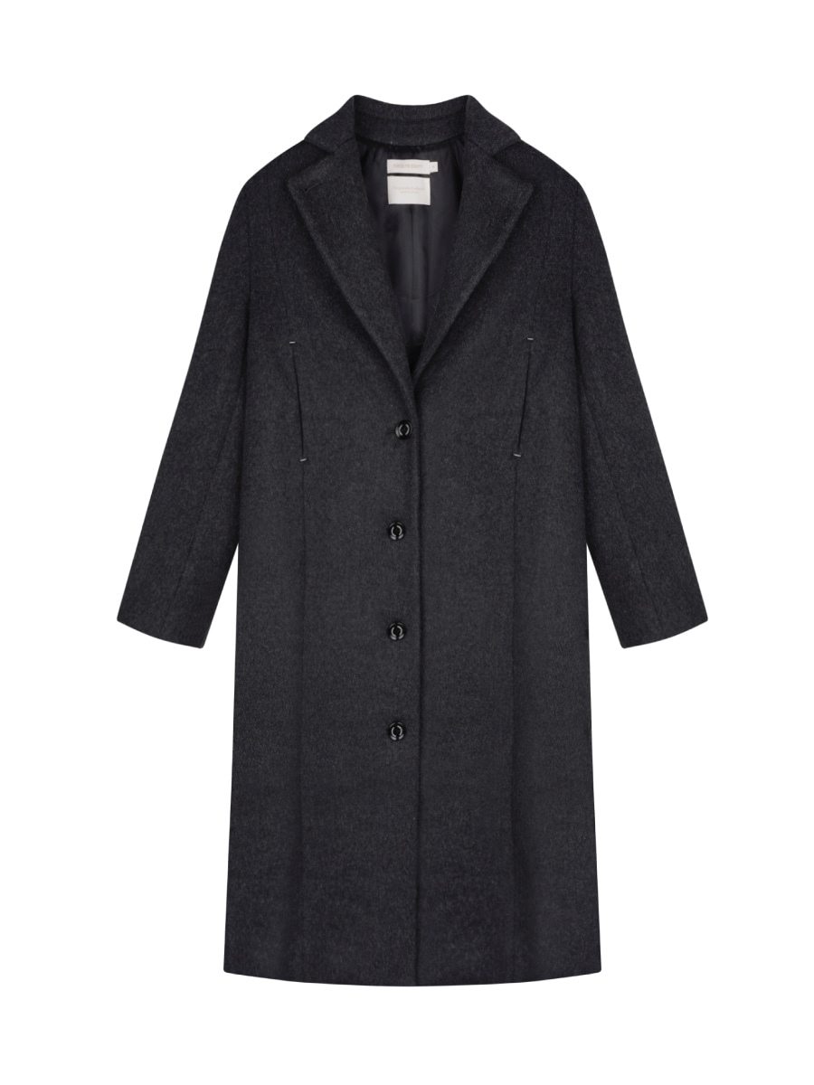 Wool Stitch Detailed Coat