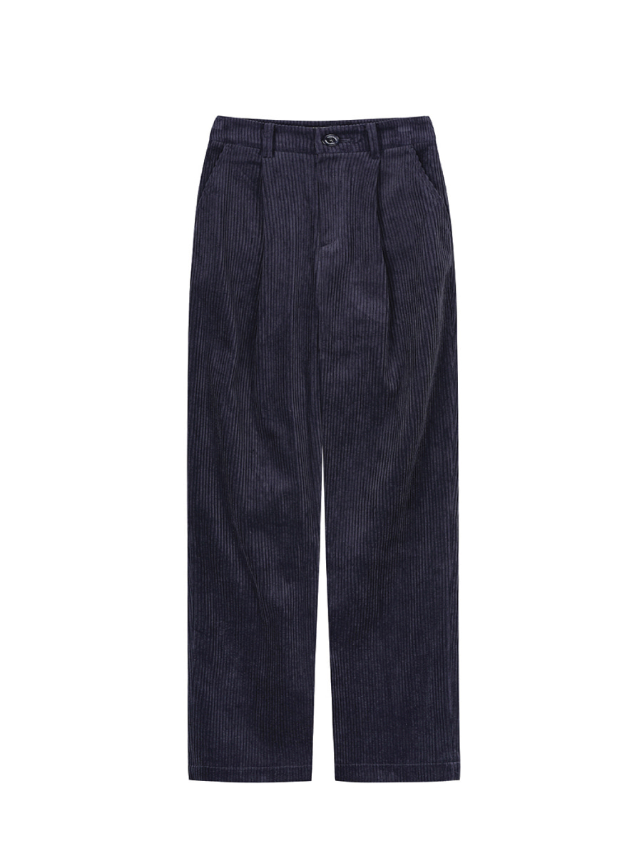 Wide Corduroy Trousers (Charcoal)