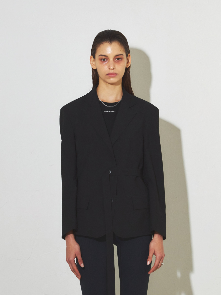 Oversized Tie Jacket (Black)