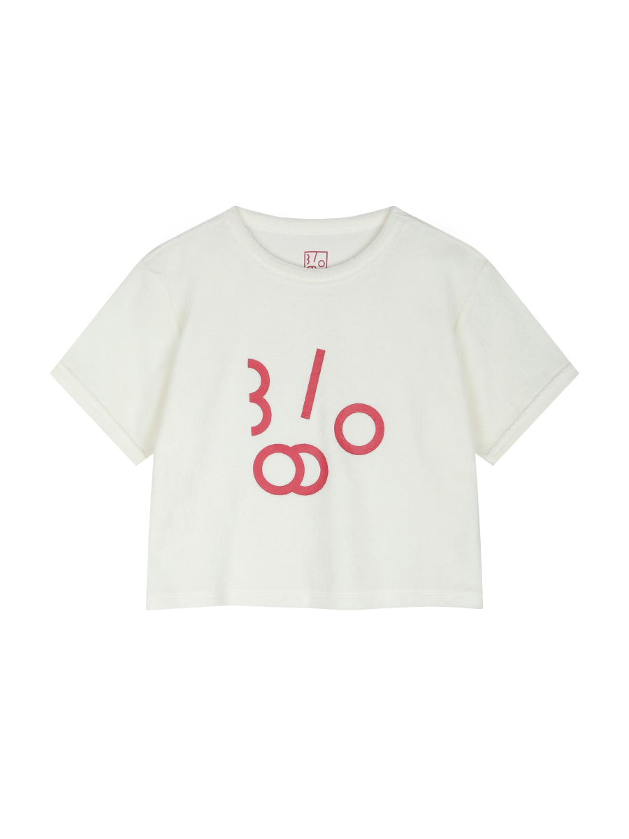 Harmony Logo Towelling Crop T-shirts (Japanese Red)