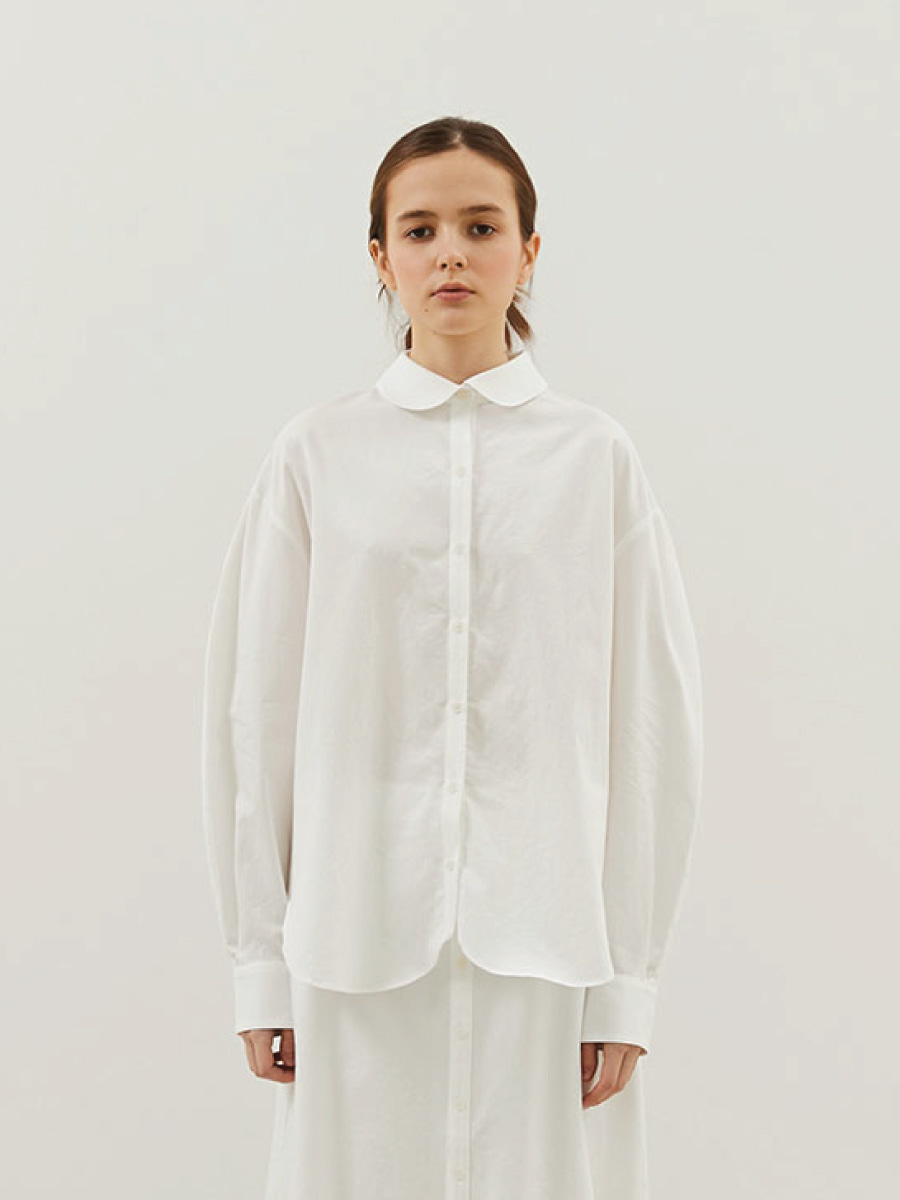 Amelie Curved Shirts (White)