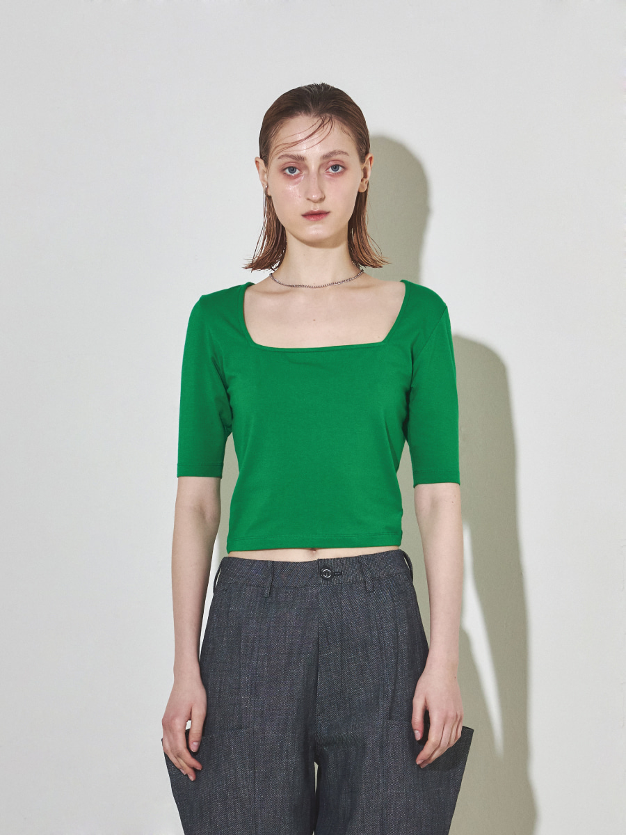 Square Slim Top (Green)